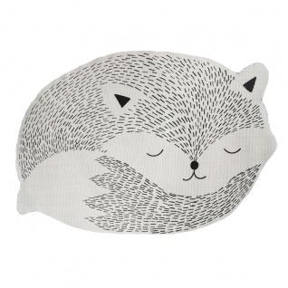 Baby Teppich Fox, 90x60 cm, Farbe grau - Atmosphera for kids