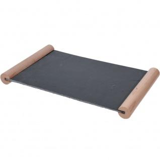 Servierplatte aus Schiefer, ein Tablett zum Servieren von Mahlzeiten 32x20x3 cm