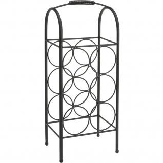 Weinregal aus Metall, 22 x 16 x 52 cm, schwarz - EH Excellent Houseware