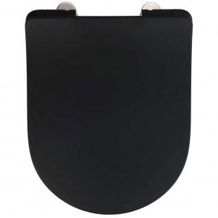 Sedilo WC-Sitz aus Duroplast, Farbe schwarz