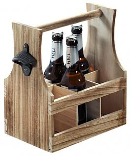 Flaschenträger für 6 Flaschen, Flaschenkorb, Paulowniaholz B:25 x H:29 x T:17cm