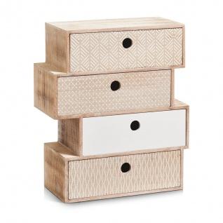 ZELLER Schubladenelement Nordic, 4-er, Holz MDF, natur