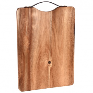 EH Excellent Houseware, Schneidbrett aus Holz Ø 36x26x2 cm