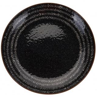 Keramikteller Dekoteller Ø 27 cm Pfeilmuster - EH Excellent Houseware