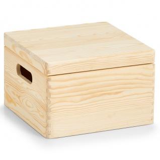 Aufbewahrungsbox Cube m. Deckel, Kiefer