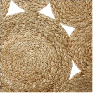 Deko-Teppich aus Jute, Ø 80 cm, rund, Boho-Stil - Vorschau 2
