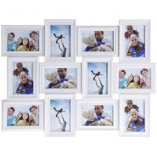 Bilderrahmen Fotogalerie Fotorahmen Collage für 12 Fotos Format 10x15 cm