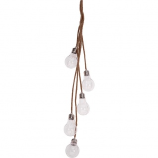 15 LED Lichterkette mit Birnenmotiv auf Juteschnur - Home Styling Collection