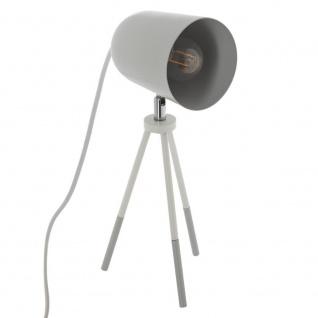 Tischlampe auf Stativ, Metall Schreibtischlampe - Höhe 32 cm