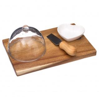 Brett für Käse, Snacks - 4 Elemente, Akazienholz, Secret de Gourmet
