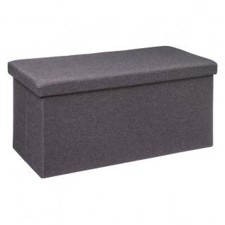 Sitzhocker mit Ablagefach, groß, Farbe schwarz - Atmosphera