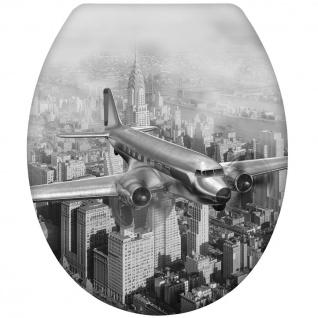 """Wenko WC-Sitz """" Altes Flugzeug"""", Duroplast"""