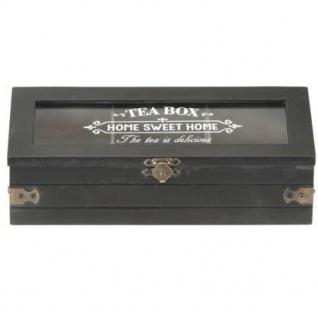 Teebox mit Aufschrift SWEET HOME, Holz, 24 x 9 x 9 cm - Vorschau 4