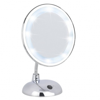 WENKO Kosmetikspiegel Style Chrom - Standspiegel, Kunststoff
