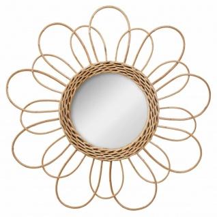 Spiegel aus Rattan, Blume, Dm. 38 cm, beige