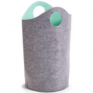 Wäschekorb aus Filz, Wäschekorb mit Wäschergriffen, leicht zu transportieren.