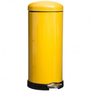 Müllkorb mit Pedal 30L RETRO, Edelstahl, gelb - 5five Simple Smart