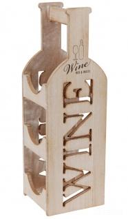 Weinregal Flaschenregal Weinständer für 3 Flaschen Holz 46 x 14, 5 x 14 cm - Home Styling Collection