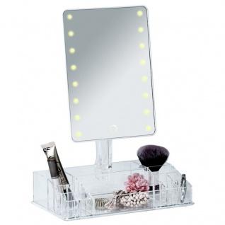 Kosmetikspiegel FARNESE mit Organizer und LED-Beleuchtung, WENKO