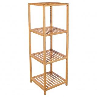 Bambusregal mit 4 Ablagen für das Badezimmer, Bambusmöbel, Badmöbel
