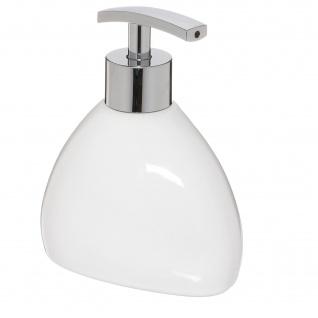Seifenspender SILK, Keramik, weiß