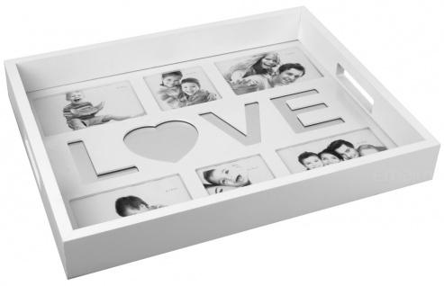 Küchentablett LOVE MIRRORS - mit Platz für 6 Fotos