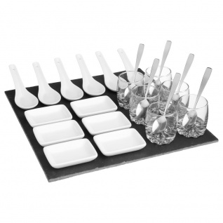 Secret de Gourmet Snack-Set, quadratisch, 25 Stück L. 30, 5 x l. 6, 5 x H. 30, 5 cm weiß