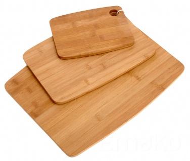 3 teiliges Set von Bambus-Tabletts