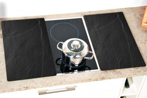 Glas Herdplatten 2er Set Schneidebretter Küchenbretter Küchenzubehör 2 Stück Schiefer Kesper