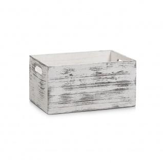 RUSTIC WHITE Aufbewahrungsbox, Holz , 30x20x15 cm, ZELLER