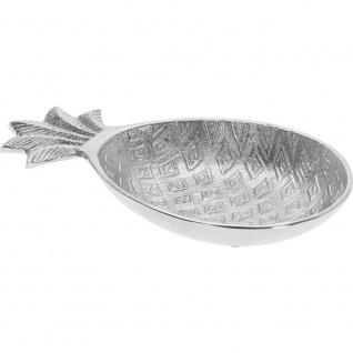 Dekorative Schale für Kleinteile ANANAS - silber, 20 cm