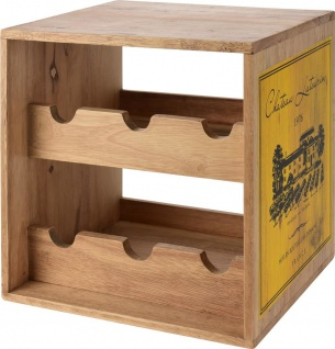 Weinregal, Kautschuk Holz, 6 Flaschen