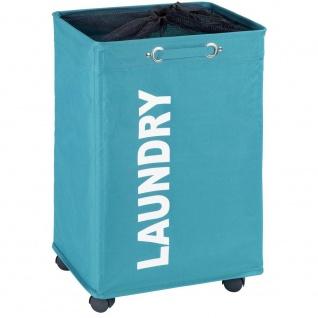 QUADRO Wäschekorb mit 79 Liter Fassungsvermögen, Behälter für schmutzige Wäsche und Kleidung von WENKO