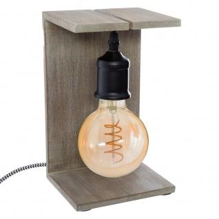 Dekorative Lampe CAJA, 25 cm, Kabel schwarz - Atmosphera