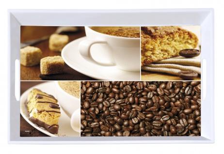 Serviertablett, Frühstückstablettes Tablett, Melamin, Motiv: Kaffee