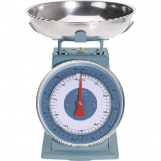 Küchenwaage Retro, 5 kg, blau