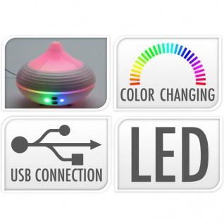 Luftbefeuchter mit LED-Beleuchtung, 130 ml, mit USB-Kabel - Vorschau 2