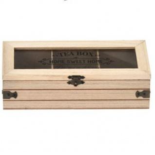 Teebox mit Aufschrift SWEET HOME, Holz, 24 x 9 x 9 cm - Vorschau 2
