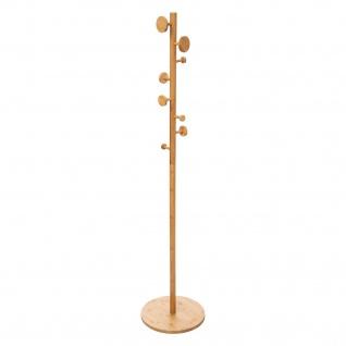 Garderobenständer für Flur, Bambus, 8 Haken