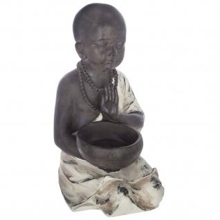 Buddha-Figur ZEN GARDEN, mit Platz für Räucherstäbchen oder Kerze, braun