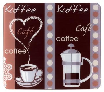 Multi-Platte COFFEE FLAVOUR, Herdabdeckplatte aus gehärtetem Glas, 56 x 0, 5 x 50 cm, WENKO - WENKO