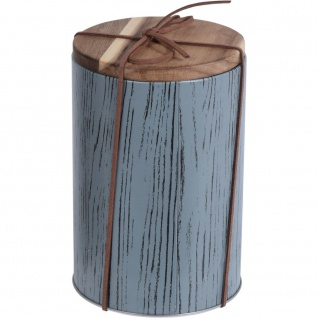 Metallbehälter für lose Lebensmittel, Ø 10 x 15 cm, blau