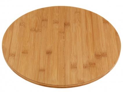 Drehteller Aus Bambus Drehkabinett Servierplatte Platte Teller Drehbar Ø 35cm