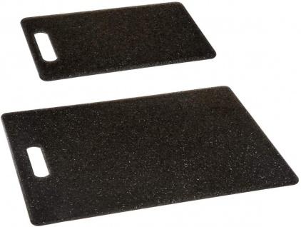 Schneidebrettset, Polypropylen, 2 Stück, schwarz - Vorschau 1