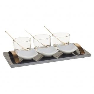 Marmor Aperitif Set 10-teilig schwarz - Secret de Gourmet