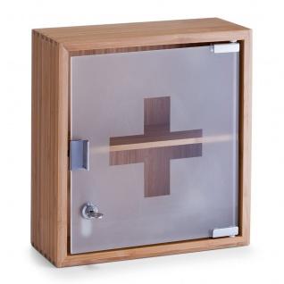 ZELLER Medizinschrank, Bamboo und Glas