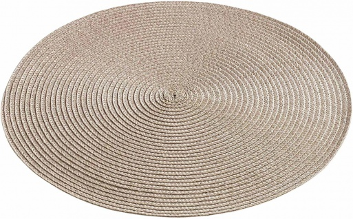 Tischset, rund, Ø 35 cm, taupe, 1 Stück