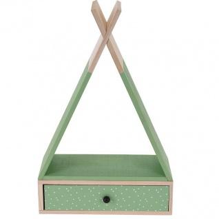 Dekorative Ablage TIPI mit Schublade, schwarz - Home Styling Collection