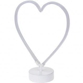 Neon LED Herz, leuchtende Dekoration - Höhe 30 cm