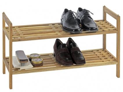Wenko Walnussholz Regal Schuhständer Schuhregal Regalsystem Norway mit 2 Ablagen